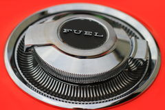 Classic Car Fuel Cap Stock Photo