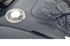 Classic car fuel cap. Stock Photos