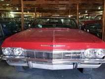 Classic Car Garage View royalty free stock photo