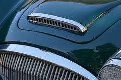 Classic car grile stock photography