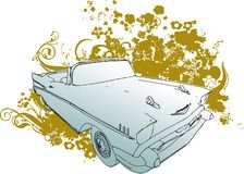 Classic car grunge illustratio Royalty Free Stock Images
