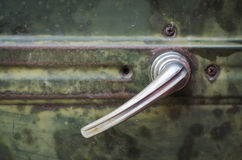 Classic car handle Royalty Free Stock Photo