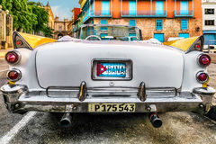 Classic Car in Havana. An American made classic convertible car in the streets of Havana, Cuba Royalty Free Stock Photos