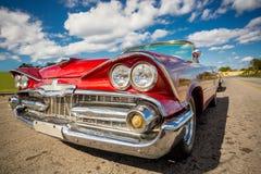 Classic car in Havana, Cuba. Classic red car in Havana, Cuba stock photography