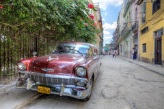Classic car in Havana street Royalty Free Stock Images