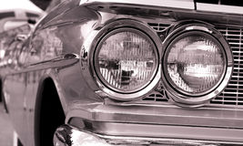 Classic car head lamps Royalty Free Stock Image