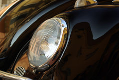 Classic car headlight Stock Images