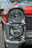 Classic Car Headlight Detail Stock Photo