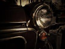 Classic car headlight. Headlight on old Morris Royalty Free Stock Photo