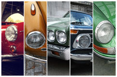 Classic Car Headlights Stock Photography