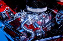 Classic car III. Big block engine of classic car Stock Photography