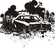 Classic car illustration Royalty Free Stock Photography