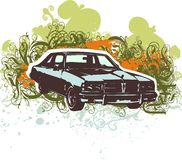 Classic car illustration Stock Photography