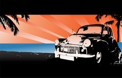 Classic car illustration Stock Images