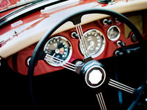 Classic car interior Stock Photos
