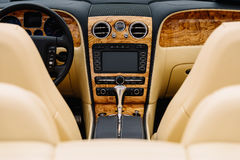 Classic Car Interior With Dashboard Royalty Free Stock Photo