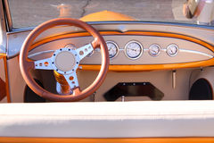 Classic car interiors Royalty Free Stock Images
