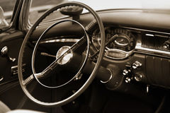 Classic car interiors Royalty Free Stock Photography