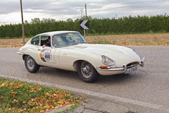 Classic car Jaguar E-Type FHC (1962) Royalty Free Stock Photos