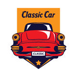 Classic car logo Royalty Free Stock Photos