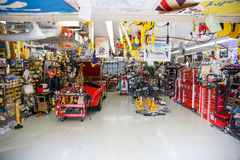 Classic Car Mechanic Garage Royalty Free Stock Photography
