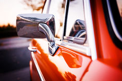 Classic car mirror Royalty Free Stock Photos
