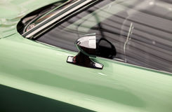 Classic car mirror and side window and door Royalty Free Stock Photography