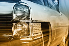 Classic car on the move Stock Photo