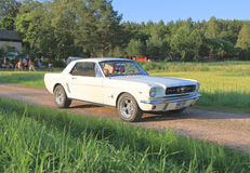 Classic car - 1964 Mustang 289 (First Generation). This rare Ford Mustang 289 CID (5. 0 l/V8) from 1964 1/2 was photographed in southern Finland (summer 2014) stock photos