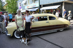 Classic car parade Royalty Free Stock Photography