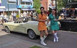 Classic car parade Royalty Free Stock Image