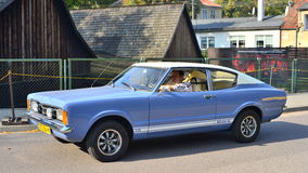 Classic American car Ford Taunus at a parade Royalty Free Stock Images