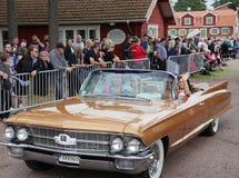 Classic car parade Stock Image