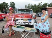 Classic car parade Royalty Free Stock Photo