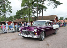 Classic car parade Royalty Free Stock Photography