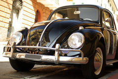 Classic car parked in a street Stock Images