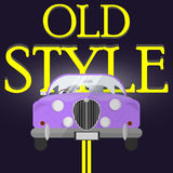 Classic car poster. Front view Royalty Free Stock Photos