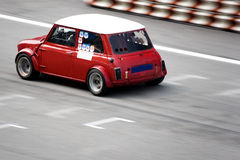 Classic Car Race. Classic car in racing action Stock Photo