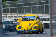Classic car race during Bang Saen Speed Week Stock Image