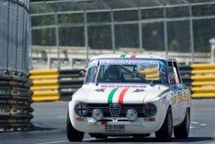 Classic car race during Bang Saen Speed Week stock photos