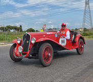 Classic car racing the mille miglia race Royalty Free Stock Image