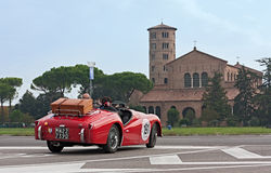 Classic car rally in Ravenna Stock Photo