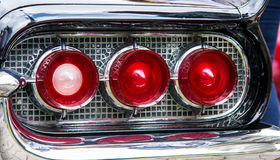 Classic car rear lights Stock Image