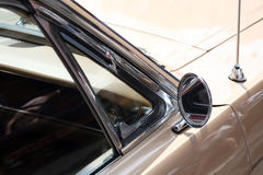 Classic car rear view mirror Stock Photo