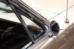 Classic car rear view mirror Stock Photo