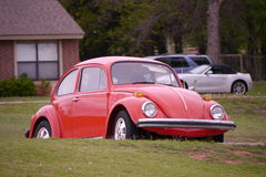 Red Bug - Volkswagen Beetle Stock Photo