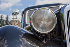 Classic car round headlight Royalty Free Stock Images