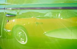 Ghostly Corvette reflection royalty free stock photography