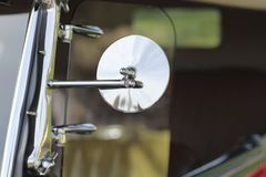 Classic Car Side Mirror Royalty Free Stock Images