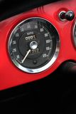 Classic car speedometer Stock Photo